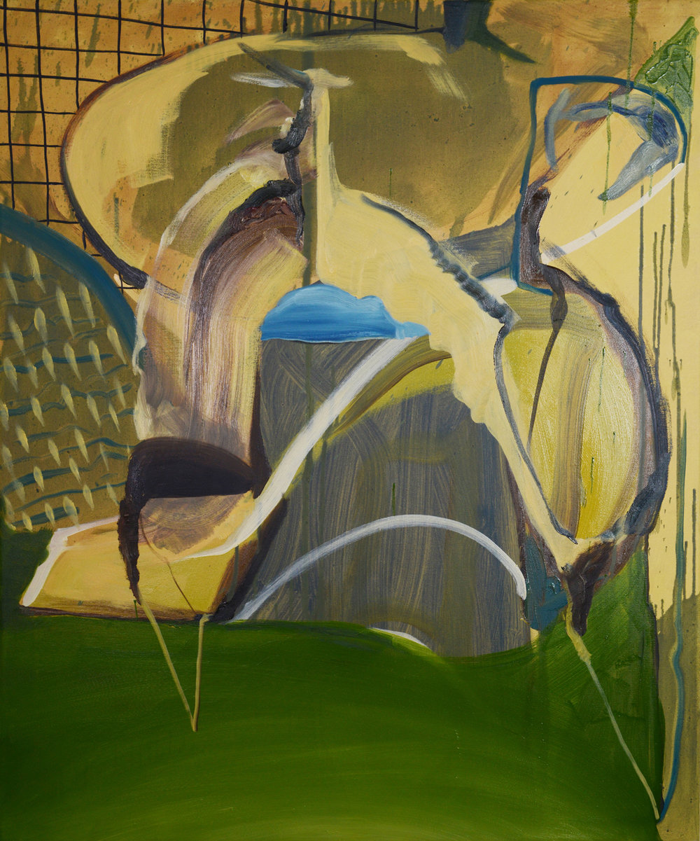 Slouch, 2013, Oil on canvas, 90 x 75 cm
