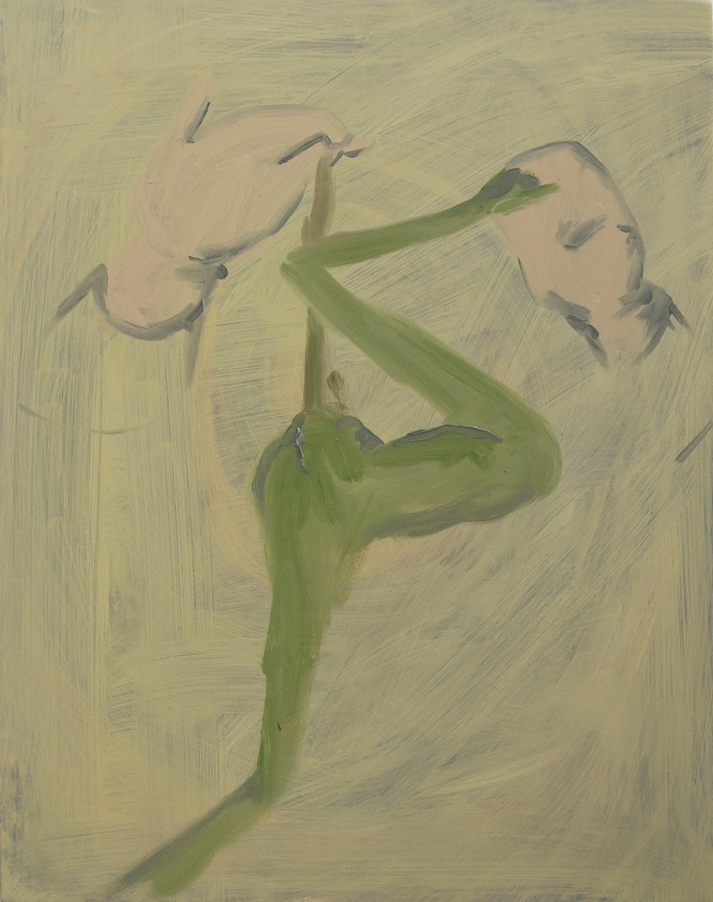 Electric, 2010, Oil on cotton, 50 x 40 cm