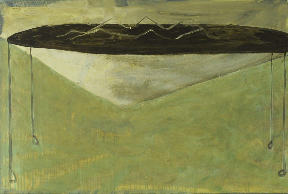 Wave, 2011, Oil on half oil ground, 80 x 120 cm