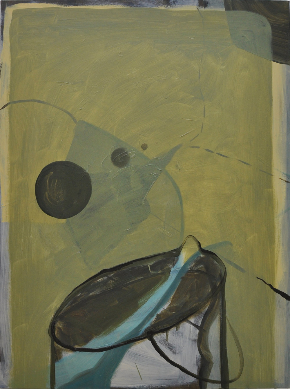 Quandary, 2011, Oil on cotton, 80 x 60 cm