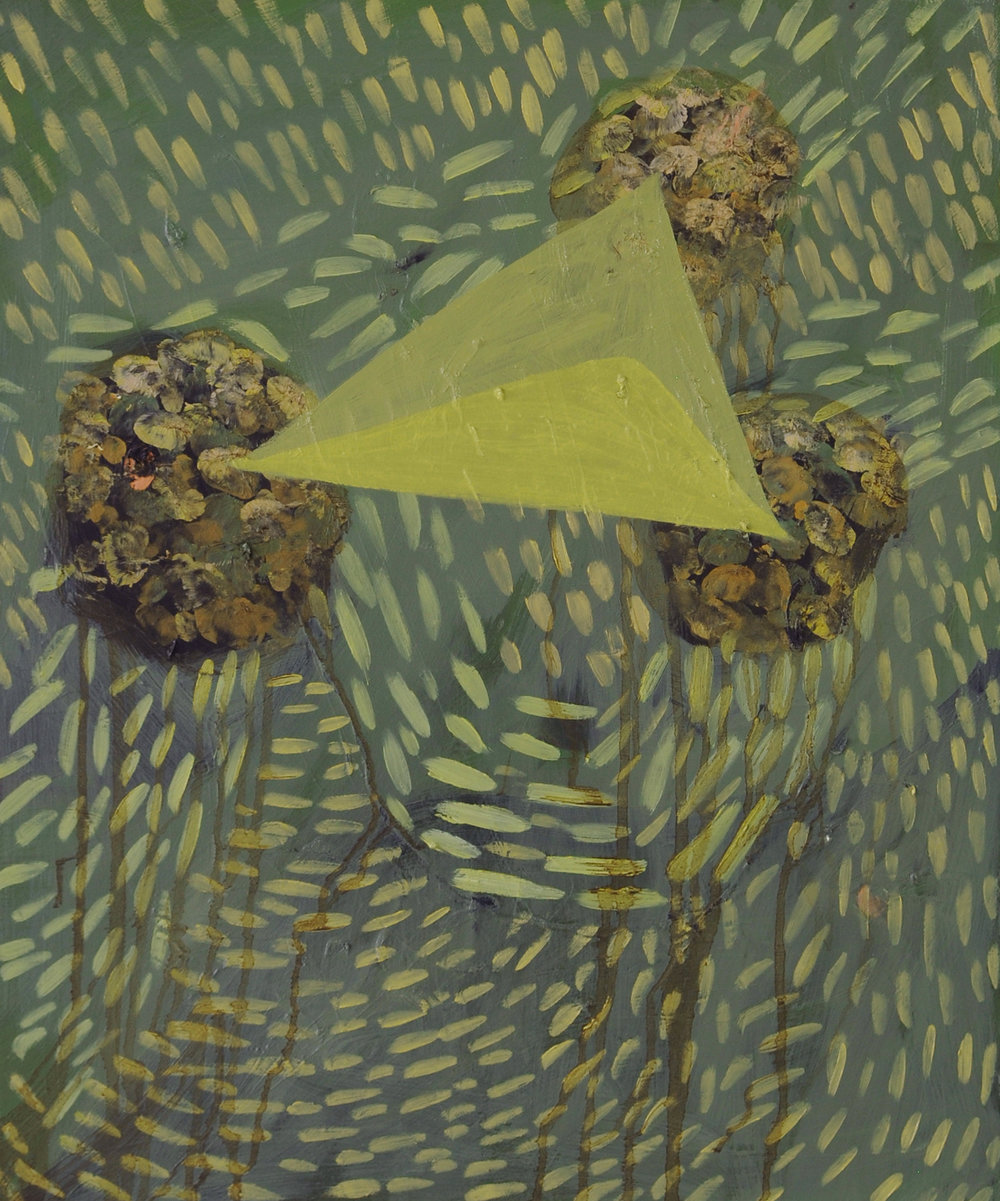 Envelope, 2011, Oil on cotton, 60 x 50 cm