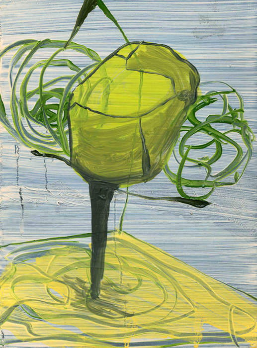 Abode, 2010, Oil on cotton, 24 x 18 cm