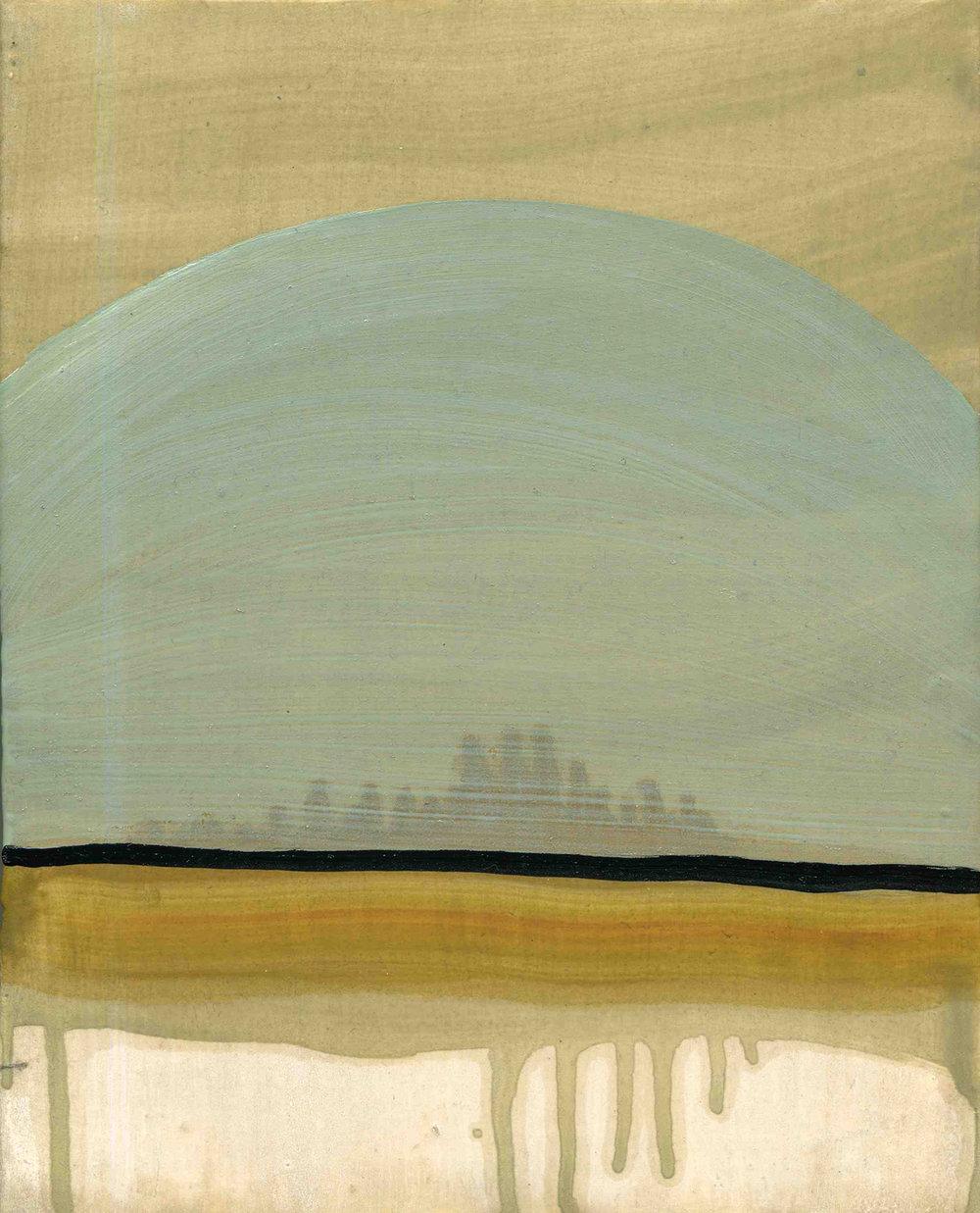 Dome, 2009, Oil on half oil ground, 24 x 18 cm