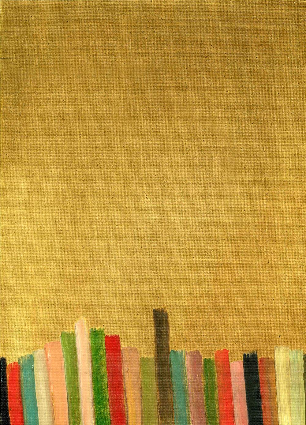 Plates, 2009, Oil on cotton, 35 x 25 cm