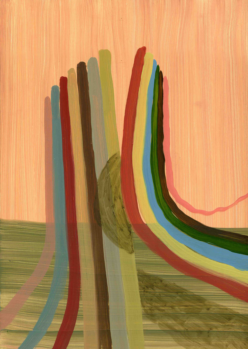 Optical Band Width, 2009, Oil on cotton, 35 x 25 cm