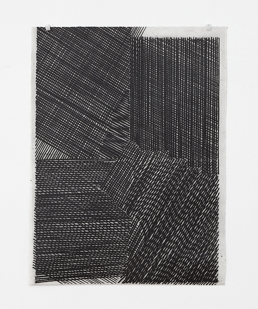 'Four', softground etching, 34 x 26cm, 2013