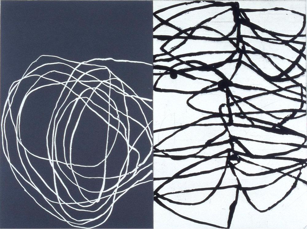 'JG0201', etching and aquatint, 30 x 40cm (image), 2002