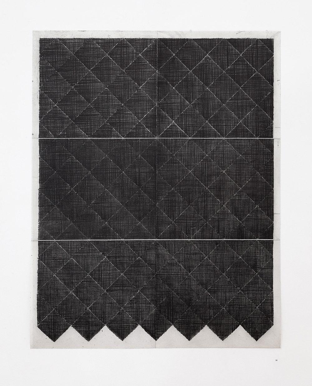 'Moor 1', softground etching, 95 x 75cm, 2013