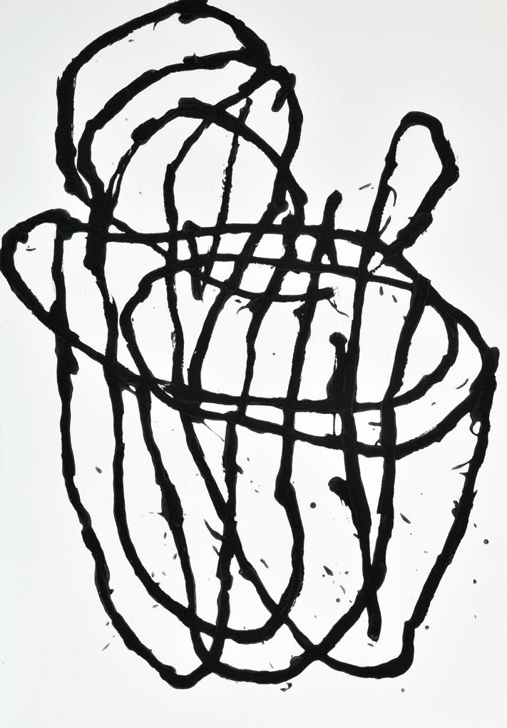 'JG0311', carborundum print, 100 x 70cm, 2003