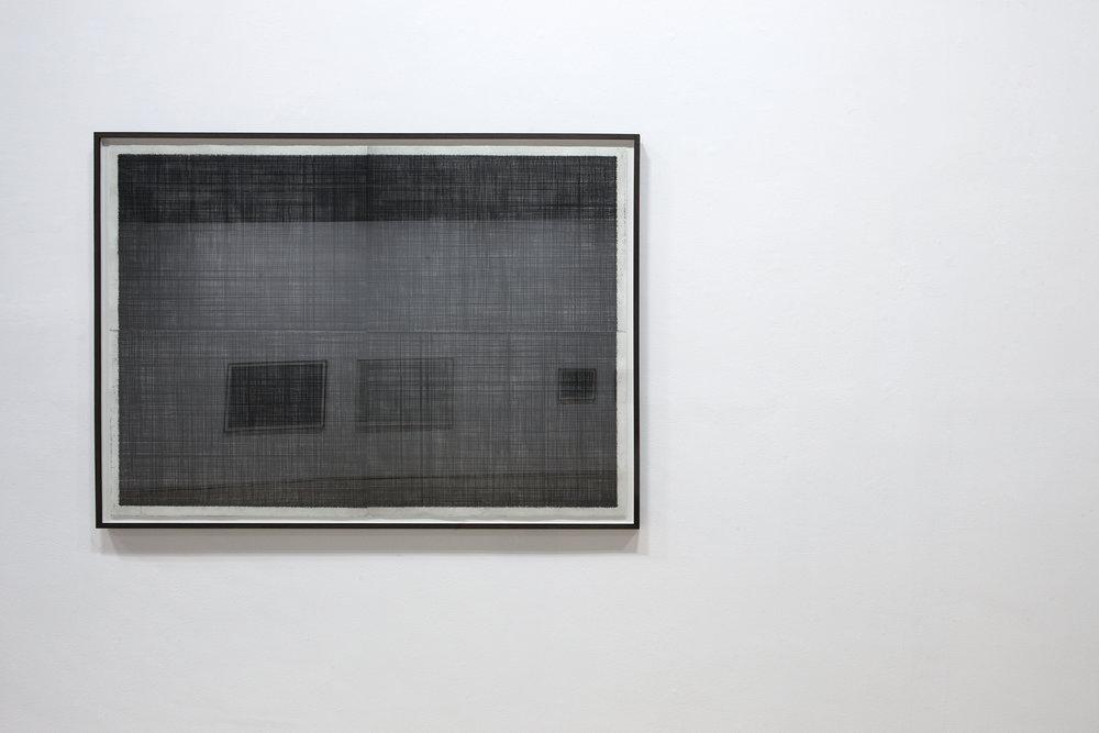 'Abat-Voix (drum)', framed etching, 105 x 145cm, 2012
