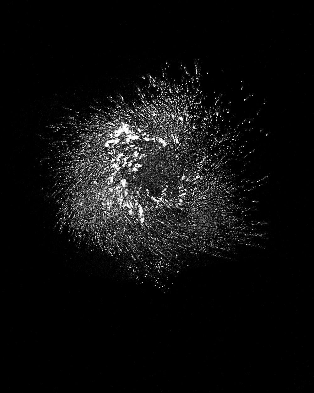 Cosmic #1 (2018). Unique photogram, selenium-toned, gelatin silver print, 51cm x 41cm.