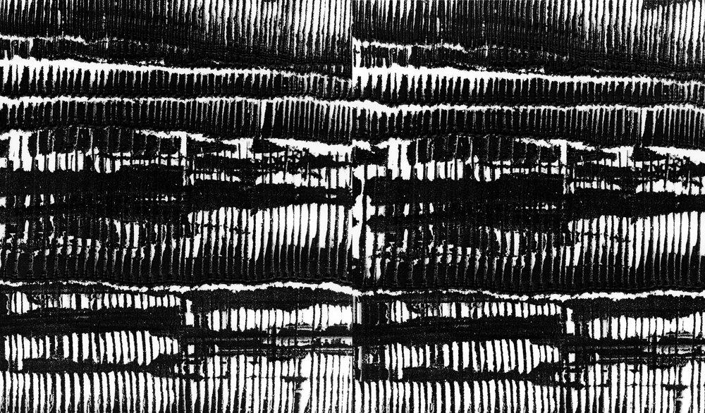 Lines Diptych (2018). Two unique photograms, selenium-toned, gelatin silver prints, 56cm x 41cm.
