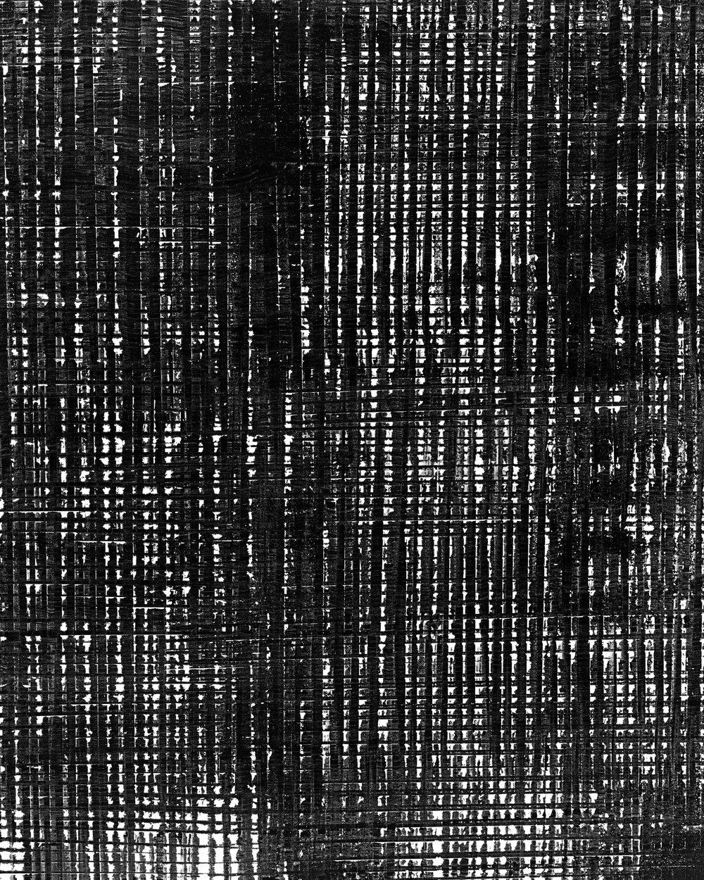 Grid #2 (2018). Unique photogram, selenium-toned, gelatin silver print 51cm x 41cm.