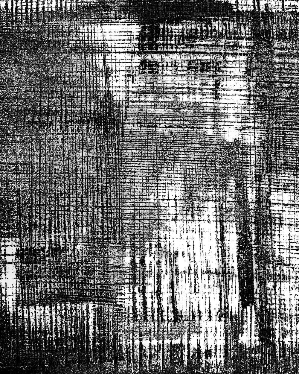 Satellite (2018). Unique photogram, selenium-toned, gelatin silver print 51cm x 41cm.