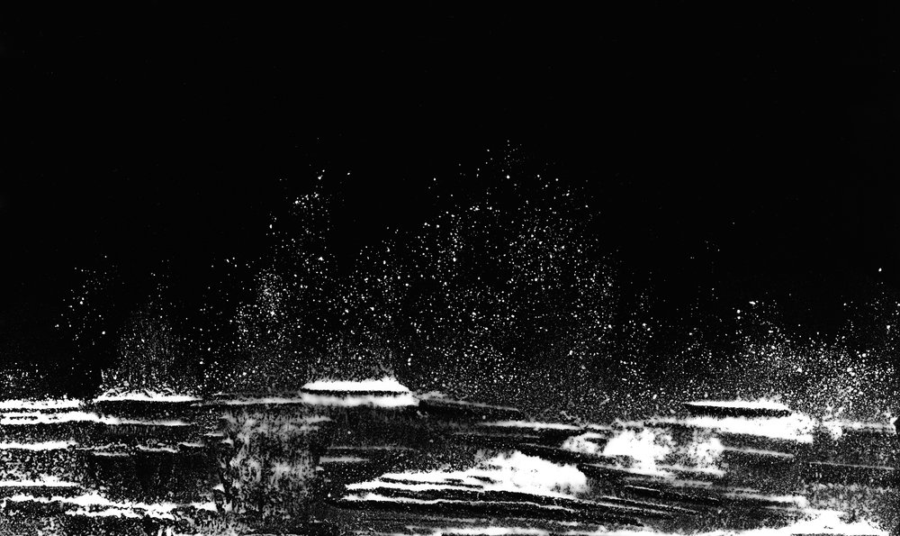 Seascape #1 (2018).  Unique photogram, selenium-toned, gelatin silver print, 25cm x 51cm.