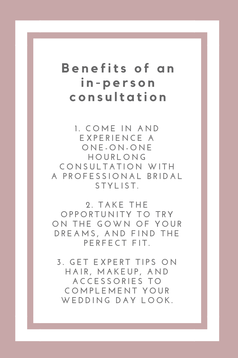 Make yourluxury bridal appointment today! - We take pride in offering each and every bride a one of a kind experience.Please make your appointment by filling out he information below.At this time we are only accepting online appointments.We look forward to meeting you!