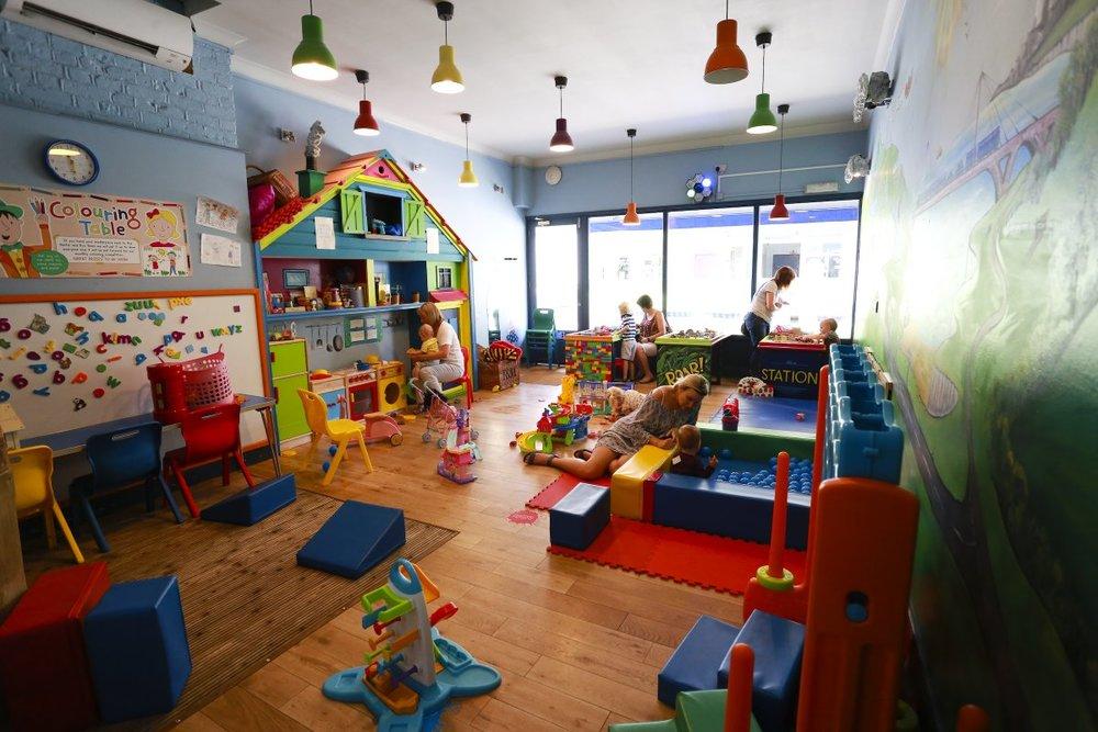 Inside the crèche