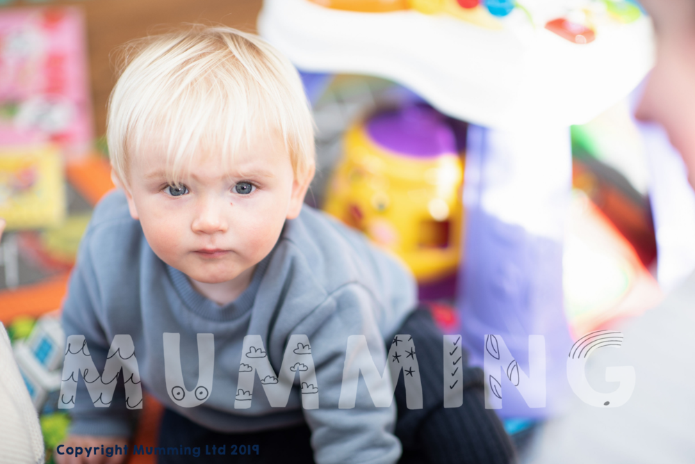 Check out this cheeky chappy in the crèche. Isn't he just the cutest?!