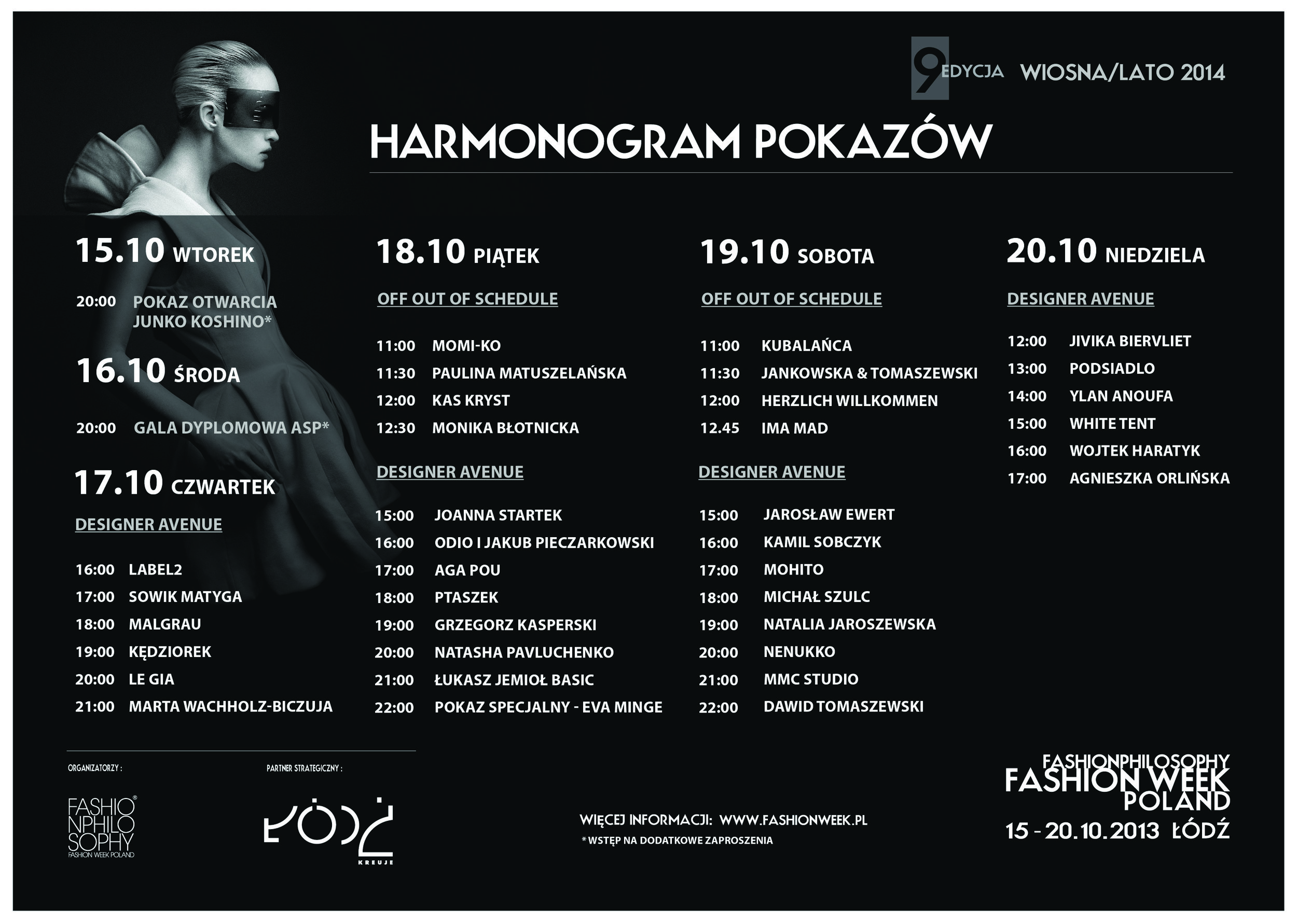 Show programme