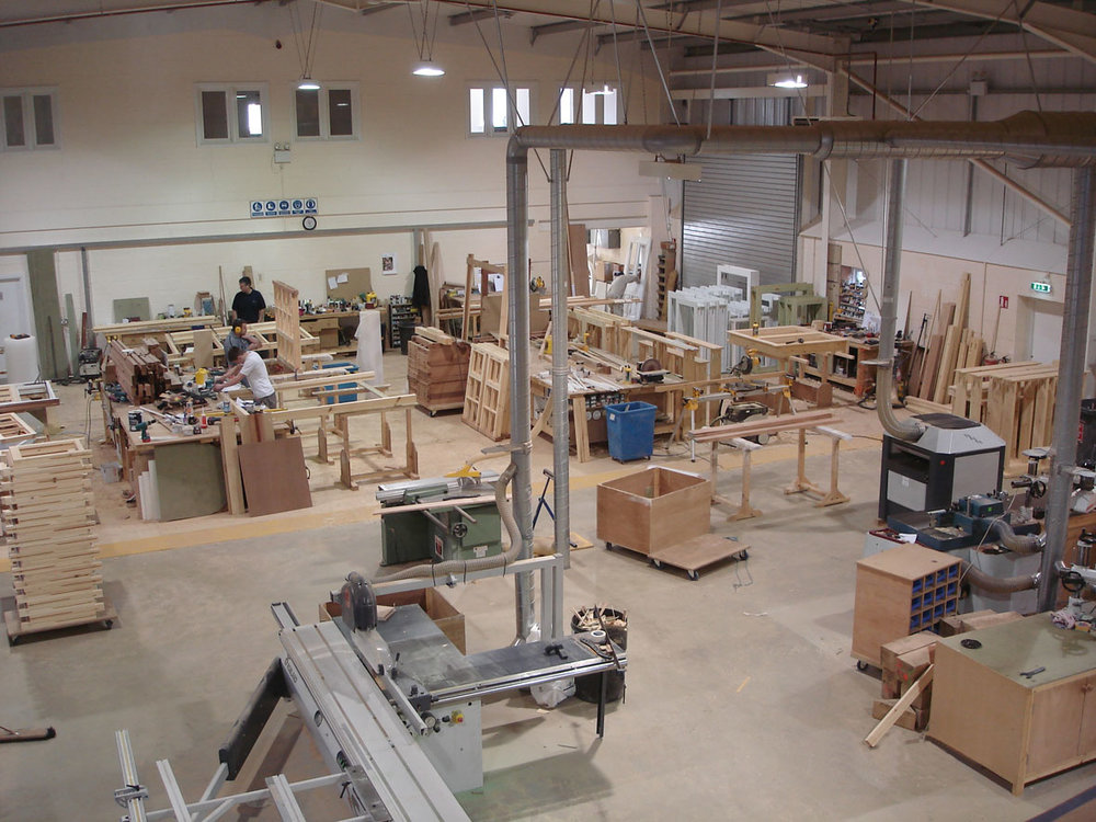 Bespoke Manufacturing - From our local workshop, we can manufacture custom carpentry, fabrications and sets and install anywhere in the UK or abroad.