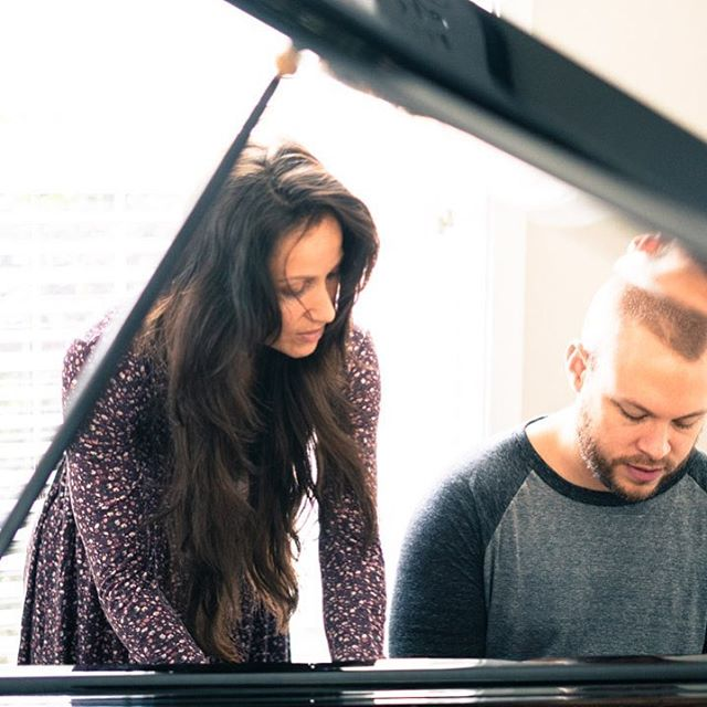 Our team had the joy of working alongside @behisown and their beautiful music this week! 🎶🔥 Y'all, these songs are going to blow your mind!! Also... HAPPY BDAY @mariaspears 🙌🏼 // We love your mad 🎹 skills and your ❤️ for the Lord! #praiseandworship #piano #musicstudio #catholiclife 📸: @johnny_d_philp
