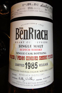 BenRiach 1985 Peated / PX Sherry Finish