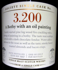 SMWS 3.200: A Bothy with an oil painting