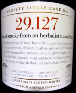 SMWS 29.127: Wood-smoke from an herbalist's cauldron