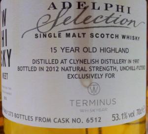 Clynelish 1997 Adelphi Selection Whisky-Meet 2013