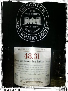 SMWS 48.31: Honey and flowers in a knicker drawer