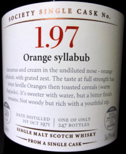 SMWS 1.97: Orange Syllabub