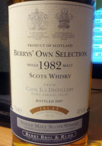 Caol Ila Berry's Own Selection 1982