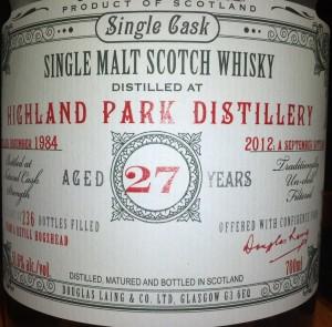 Highland Park Old & Rare 1984