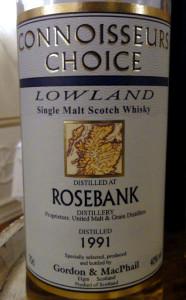 Rosebank 1991 Connoisseurs Choice