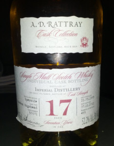 Imperial 17 YO A. D. Rattray Cask Collection