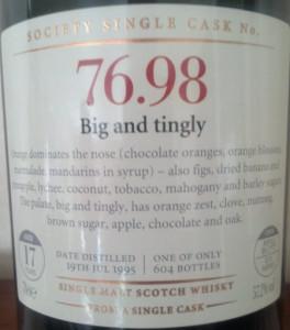 SMWS 76.98 Big and tingly