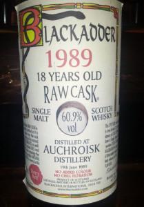 Auchroisk 1989 Blackadder Raw Cask