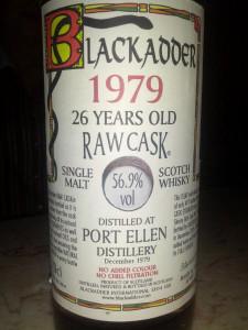 Port Ellen 1979 Blackadder Raw Cask