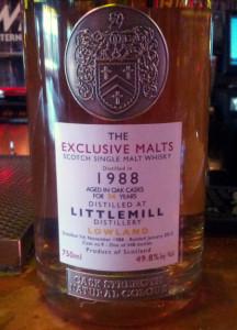 Littlemill 1988 Exclusive Malts