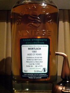 Mortlach 1991 21 YO Signatory Vintage