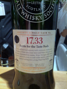 SMWS 17.33 Battle for the Taste Buds