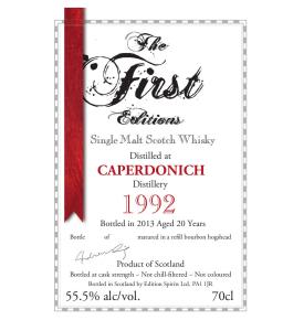 Caperdonich 1992 20 YO The First Edition