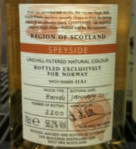 Chieftain's Choice Speyside Single Malt
