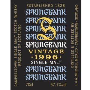 Springbank 1996 Vintage for Milano Whisky Festival