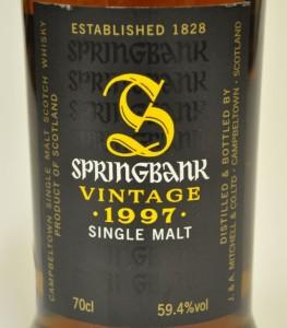 Springbank 1997 Vintage for Oddbins