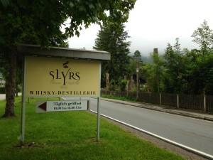 SLYRS - the Bavarian Distillery - sign