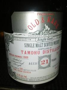 Tamdhu Old & Rare 1989