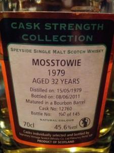 Mosstowie 1979 32 YO Signatory