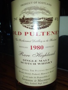 Old Pulteney 1980 G&M