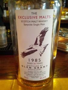 Glen Grant 1985 26 YO The Exclusive Malts